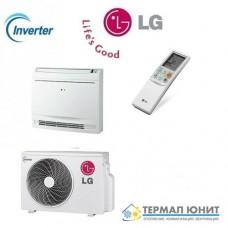 """Инверторен климатик, """"подово-таванен""""  тип комплект DC invertor  LG CV09/UU09W"""