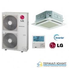 """Инверторен климатик, """"касетъчен"""" тип, комплект DC invertor  LG UT36.NN2/UU36W"""